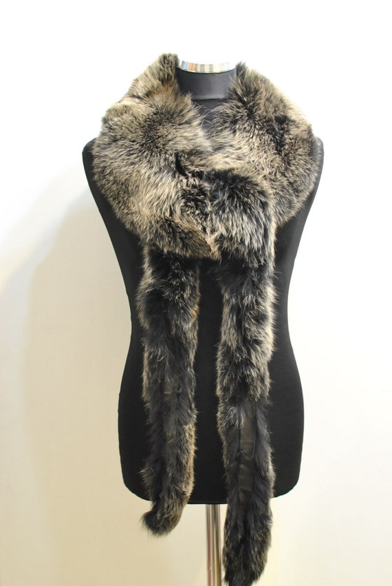 Vintage FOX FUR COLLAR , big size fur collar......