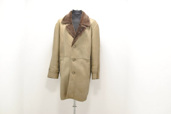 Vintage Lambskin winter parka , men's winter parka