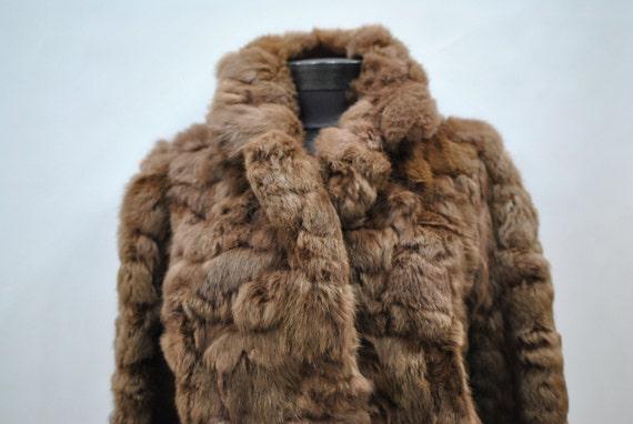 ladies fur 140 RABBIT coat fur jacket Vintage 4wnH0Rqx