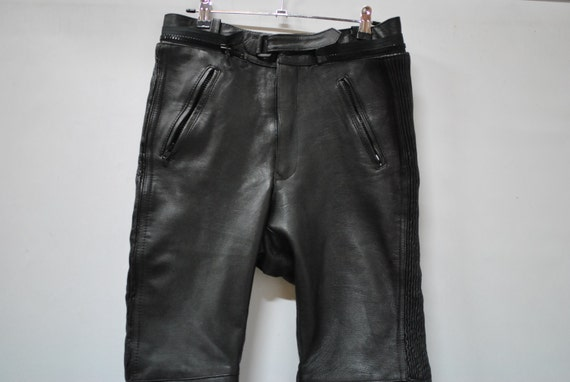Vintage MOTORCYCLE WOMEN leather pants , biker lea