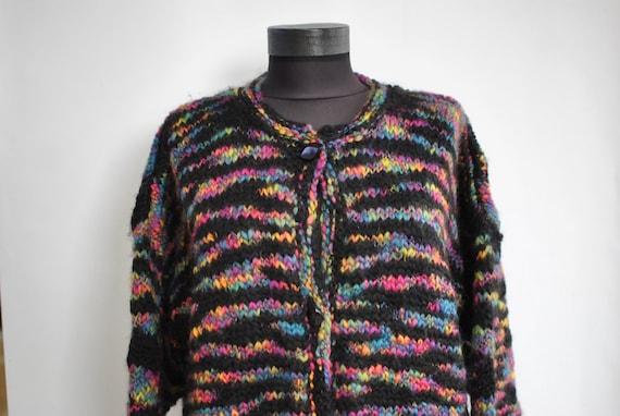 Vintage HANDMADE wool cardigan , oversize fashion