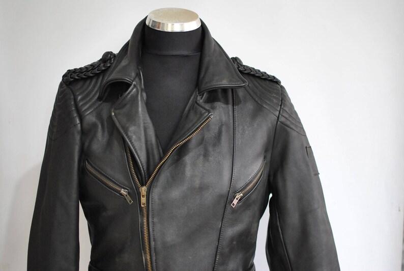 3f8fb4d50 Vintage KRAWEHL MEN'S MOTORCYCLE leather jacket , men's biker jacket  ..........(080)