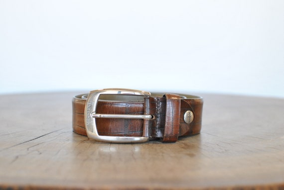 Vintage Missoni leather belt , men's leather belt