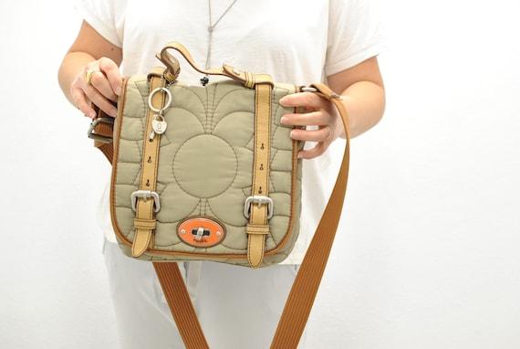 Vintage Fossil messenger bag , women's bag .......