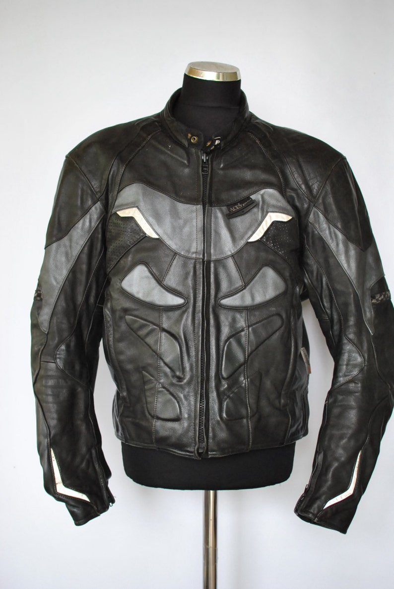 Vintage Aces By Mqp Leather Moto Jacket Men S Biker Etsy