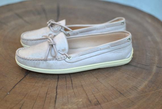 Vintage TOD'S ladies shoes  , designer shoes , lea
