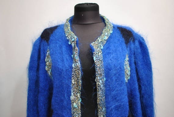 Vintage HANDMADE WOMEN'S CARDIGAN , chic cardigan