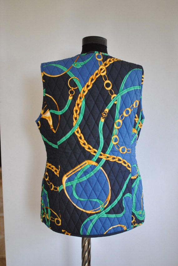vest vest 105 printed model women's Vintage LAUREL ESCADA by rare wFxqTZ8