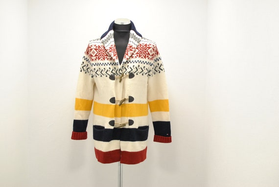 Vintage Tommy Hilfiger wool cardigan , country pat