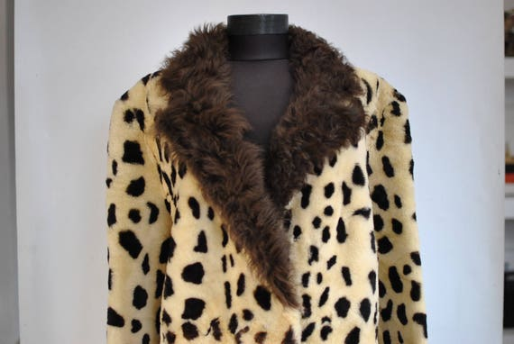 coat Vintage FUR PRINTED winter 517 LAMB women's wqfpa1T
