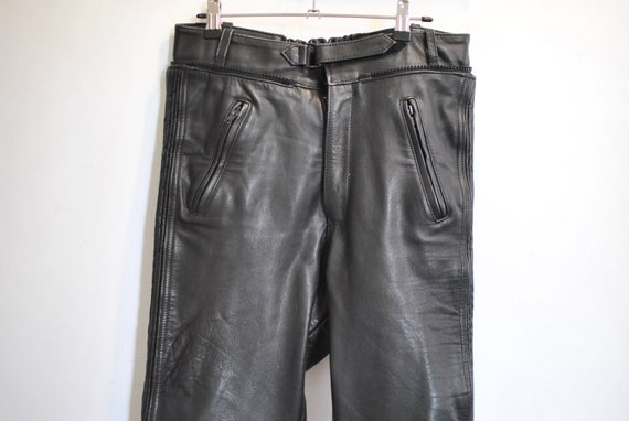 Vintage MOTORCYCLE LEATHER PANTS , men's leather p