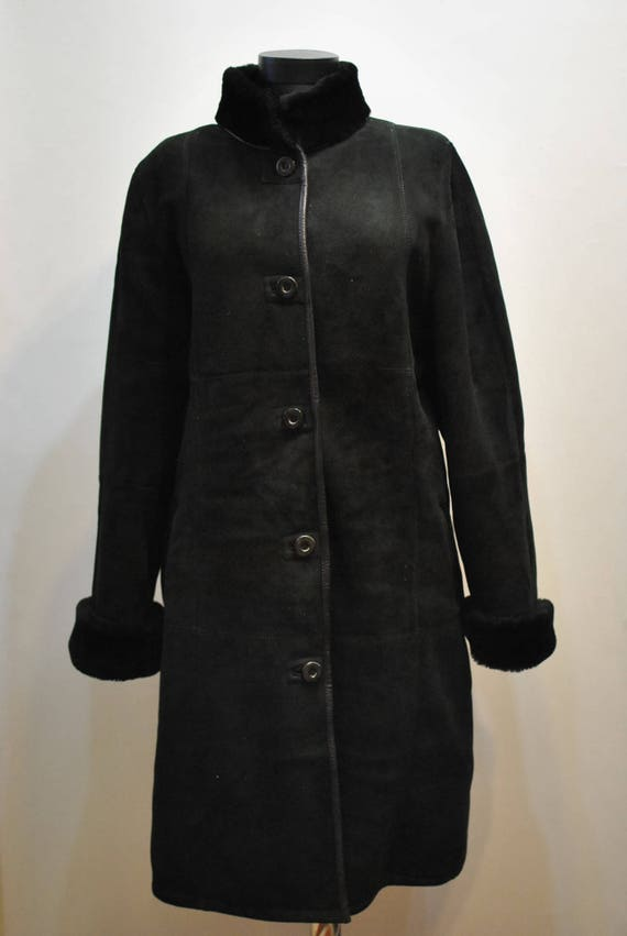 winter LAMBSKIN WOMEN'S coat women's PARKA long Vintage 587 XwOqw
