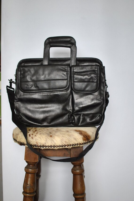 Vintage LAPTOP leather bag , laptop case , travel