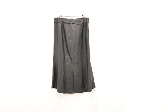 Vintage Leather skirt , women's leather skirt ....