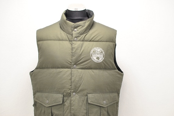 Vintage Men's Down vest Reversible goose down vest