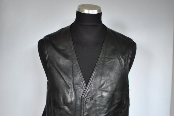 Vintage LEATHER VEST , men's leather vest ....(022