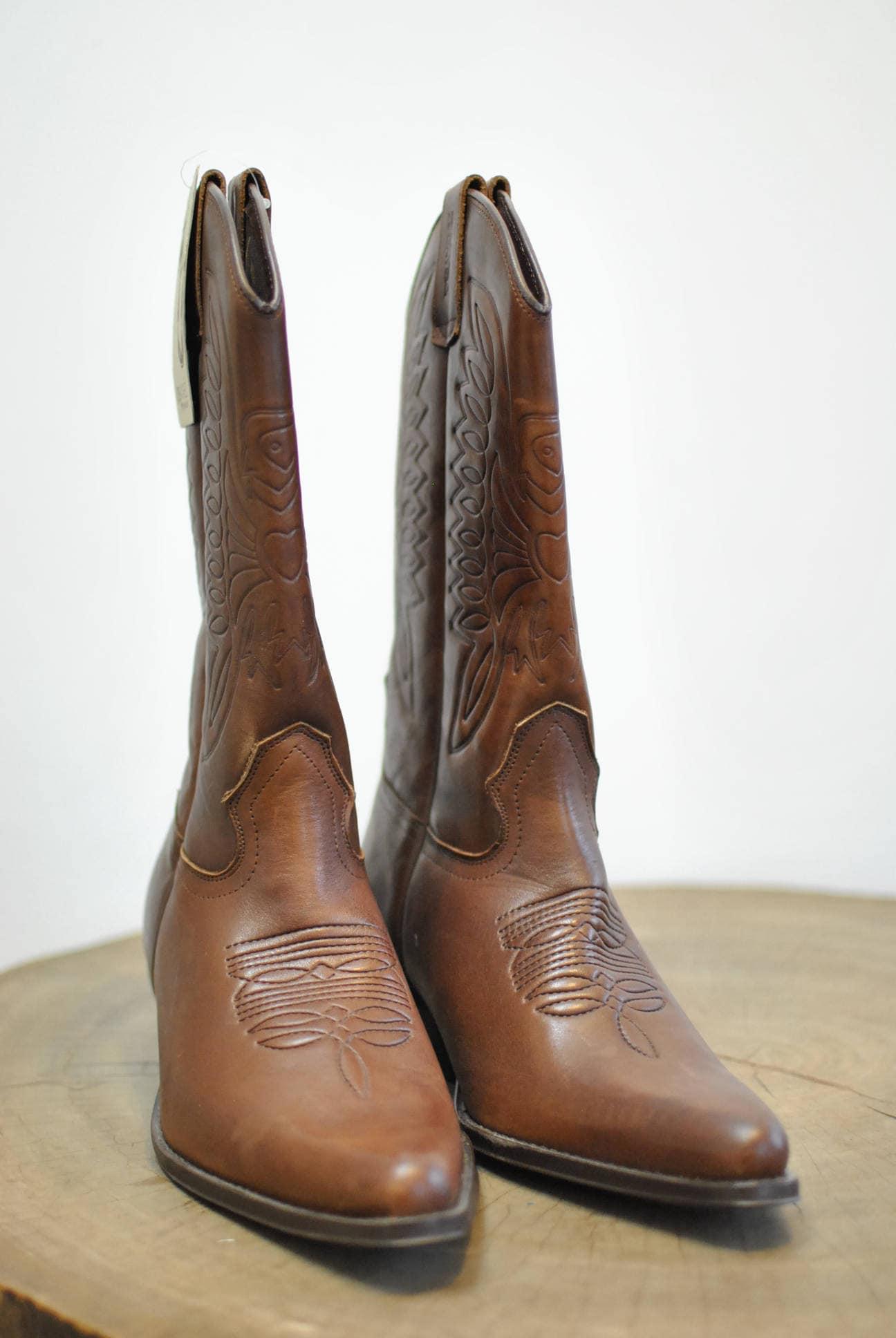 963851d8386 Bottes Sanchez Pour En Vintage Western Homme Jose Cuir 1pnxRB