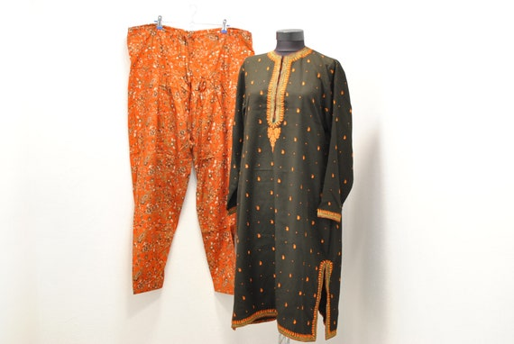 Vintage INDIA traditional  women's summer suit ...