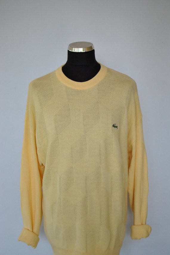In Made Chemise Men's Vintage Etsy Lacoste Yellow Sweater 6AnY4x