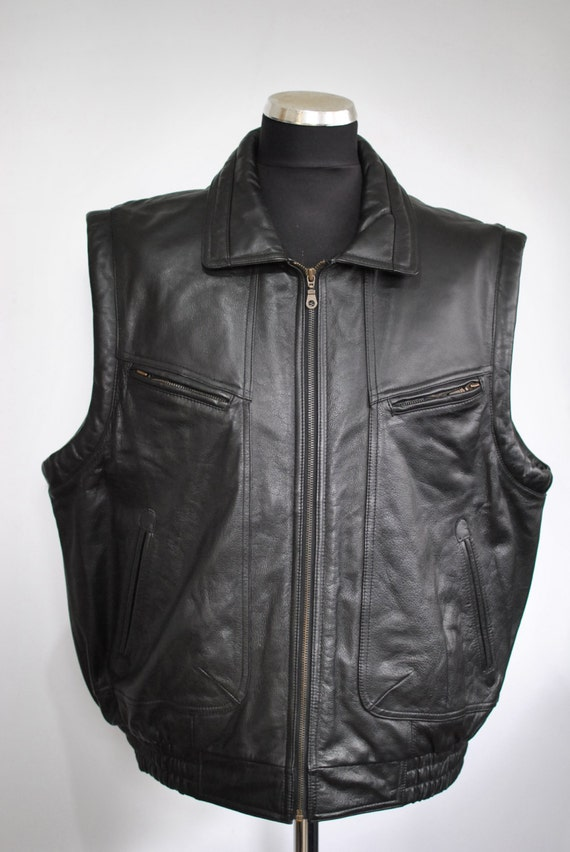 Vintage PRINCE LEATHER VEST , men's leather vest..