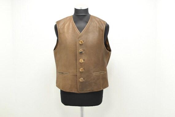 Vintage Leather Vest , me's leather vest..........