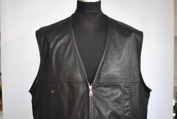 Vintage LEATHER VEST , men's leather vest ......(0