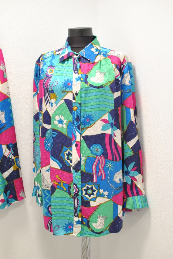Vintage Peter Hahn silk summer suit , women's sum… - image 4