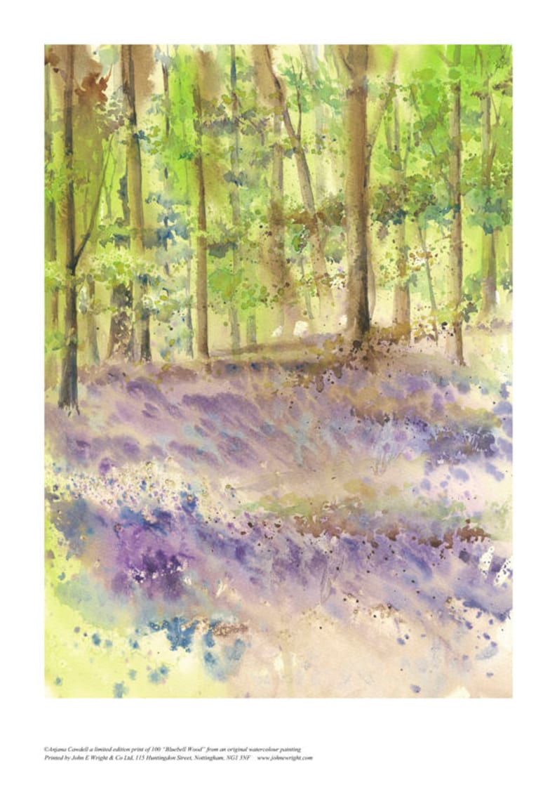 Watercolour Landscape Print Limited edition Giclee print image 0