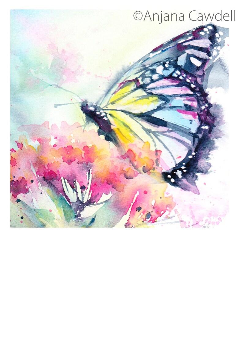 Butterfly Card Blank Greetings Card tortoiseshell monarch Rainbow Monarch