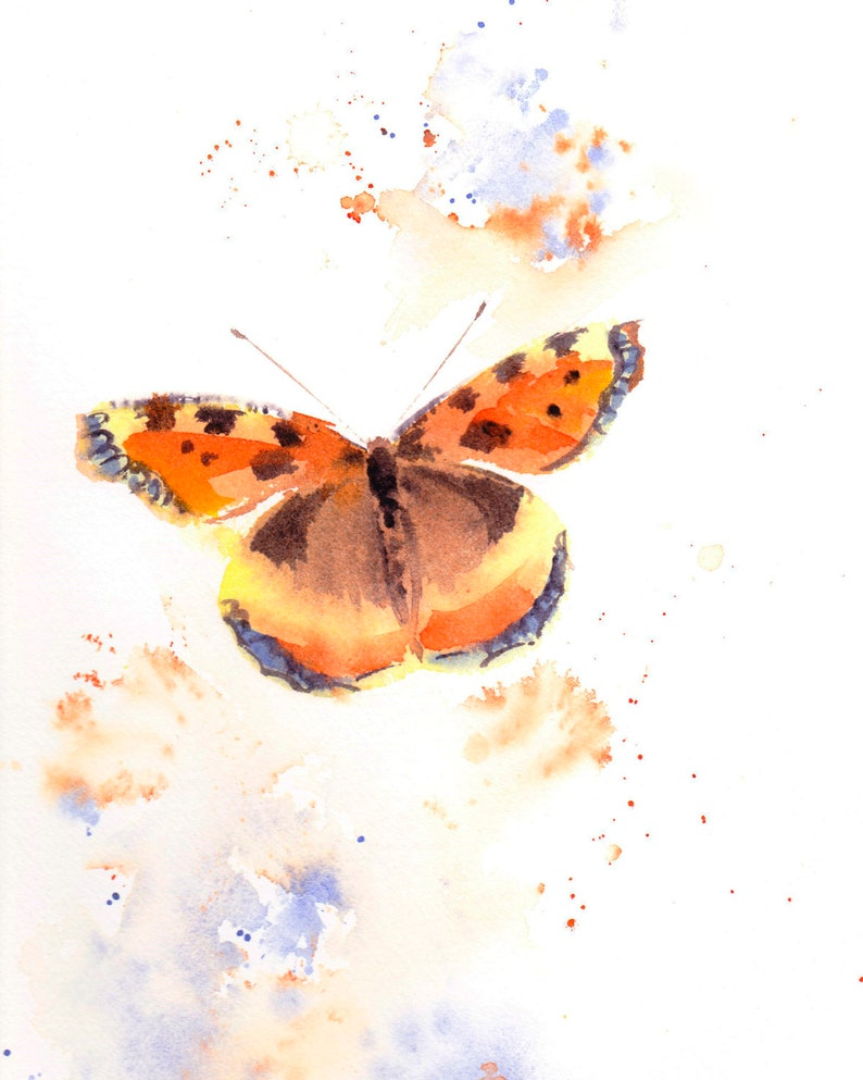 Original Butterfly Painting Butterfly Wall Art Butterfly image 0