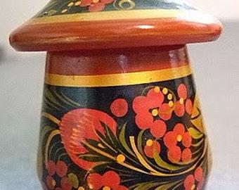 Vintage Hand-painted KHOKHLOMA Pepper Shaker