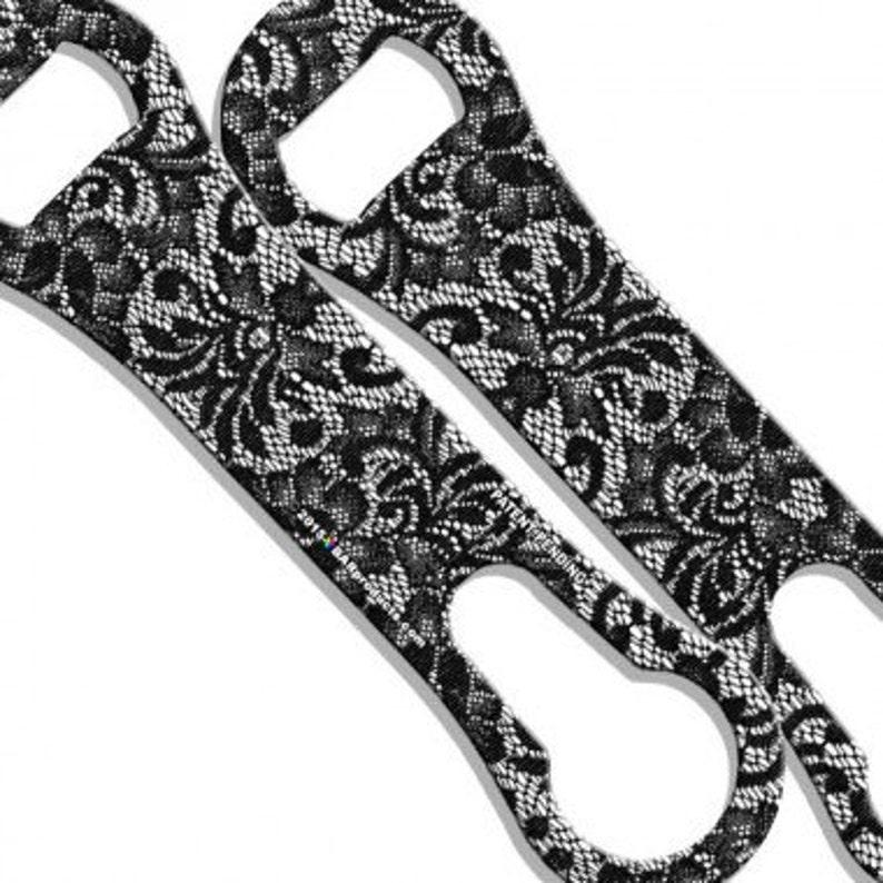 Bar Key Black and White Lace Custom V-ROD\u00ae Bottle Opener