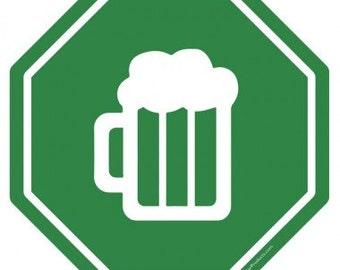 Go Beer! Metal Bar Sign