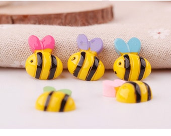 Wholesale  lot   30pcs resin  bee   flatback cabochon hairbow hair accesory supplies