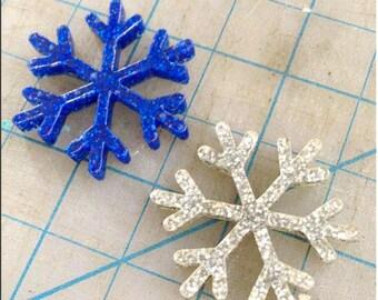 Glitter Snowflakes 2 Pcs Per Lot