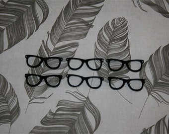 6x laser cut acrylic wayfer glasses cabochons