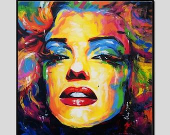 67 x 67 cm, Marilyn Monroe art paintings, Marilyn Monroe wall decor paintings