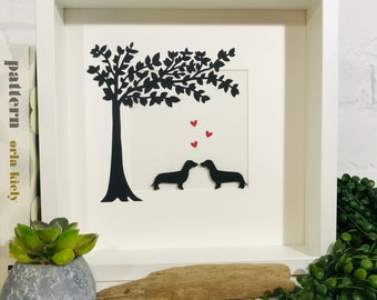 Dachshund Picture. Hello Sausage Romantic Dachshund Couple. Perfect Dachshund Lovers/Sausage Dogs/Dogs/Wiener/Doxie Dogs Mother's Day Gift