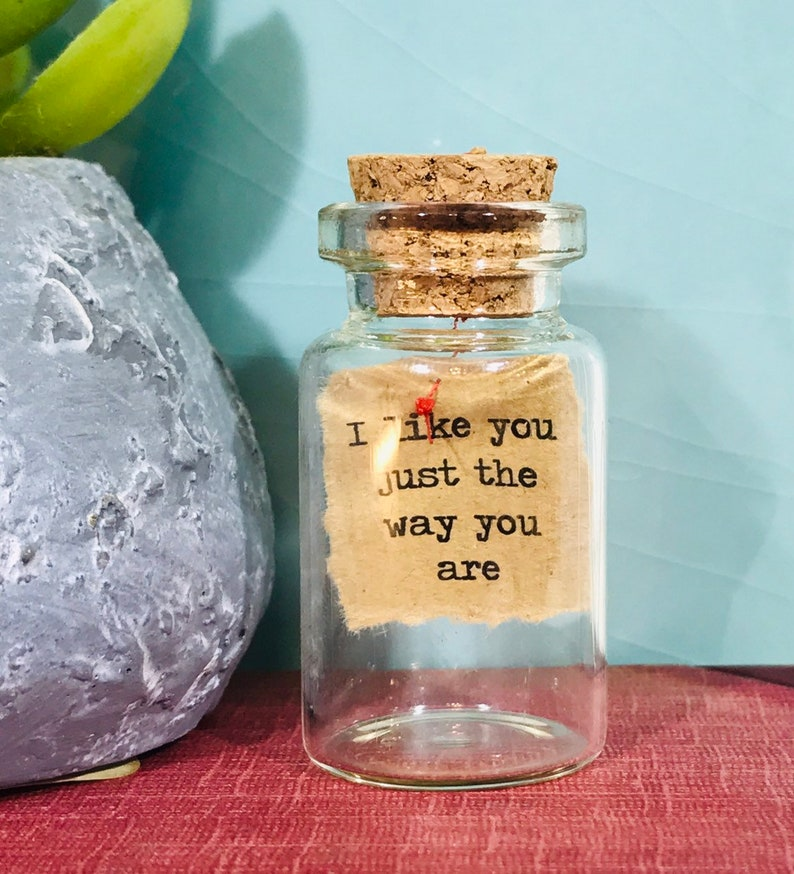 Message in a Bottle  Personalised/Custom/Bespoke Gift  I like you just.....