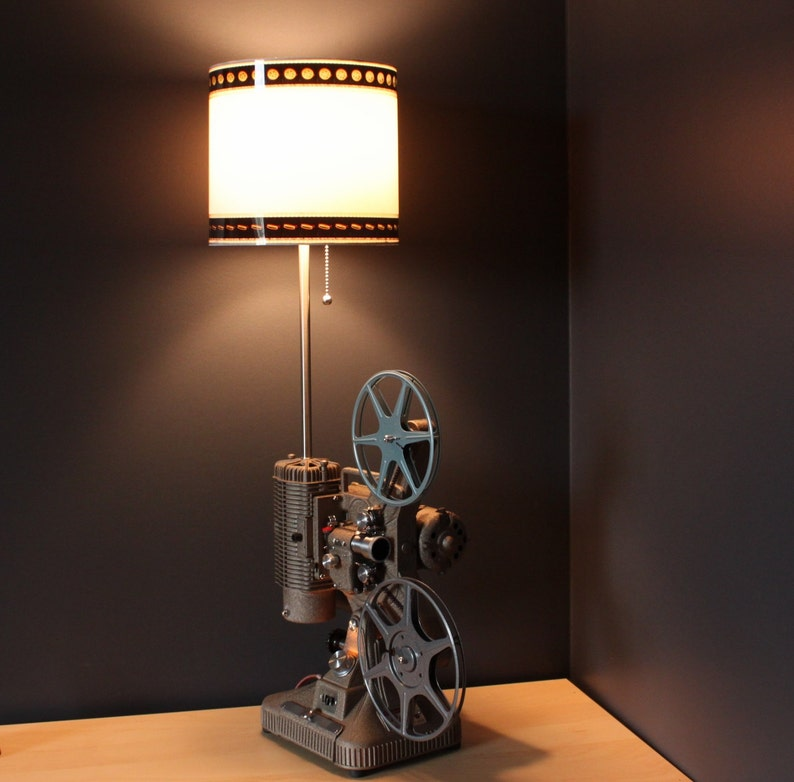 Home Theatre Decorations: Home Theater Decor 35mm Film Lamp Shade Option For Movie