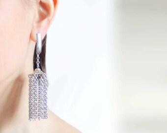 tassel earrings long earrings dangle earrings fringe earrings statement earrings trending now trending earrings fashion earrings for women