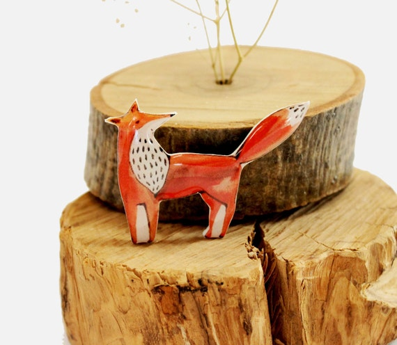 Cute Christmas Gifts For Girlfriend.Cute Fox Brooch Birthday Gift For Kids Christmas Gifts For Her Birthday Idea For Girlfriend Gift Fox Lover Gifts Woodland Gifts For Children