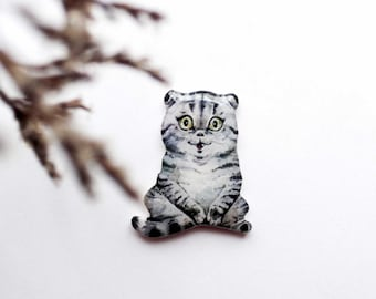 Cat brooch Cat gift|for|her Pet lover gifts Birthday gift|for|her Anniversary gift|for|girlfriend Cat jewelry Cat lovers gift Animal jewelry