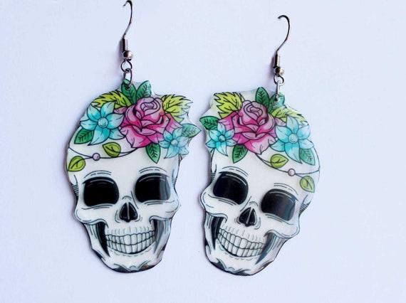 Skull Earrings Dangle Big Earring Gift For Teenage
