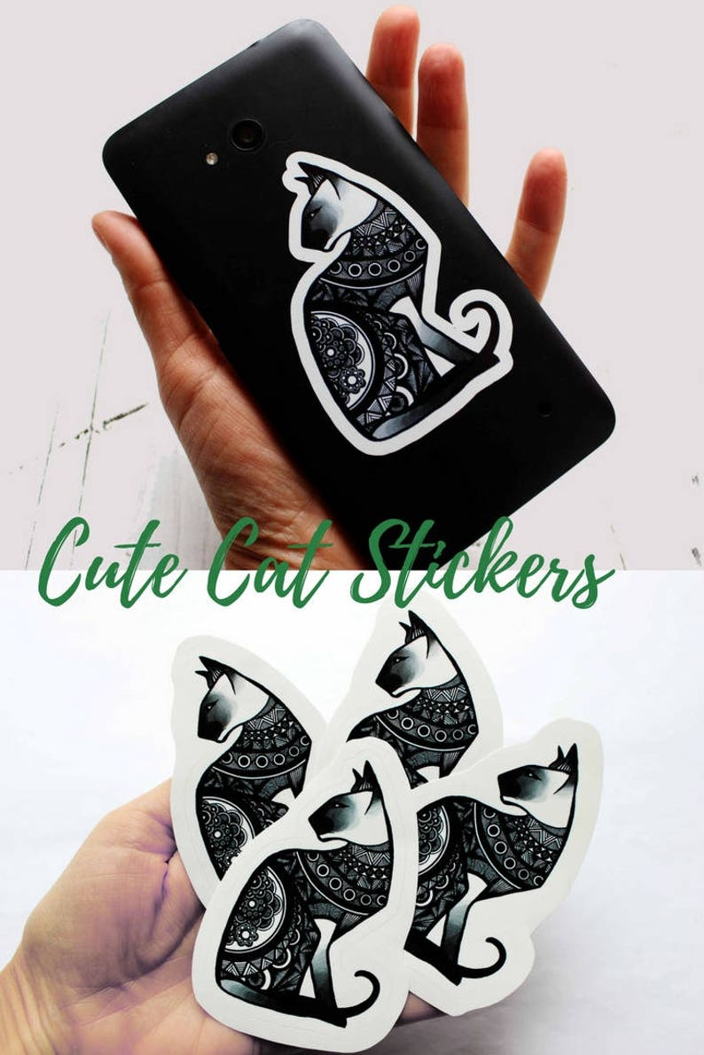 cat lover gift phone case binder cool stuff stickers for car image 0