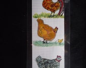 Laminated Chicken bookmar...