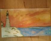Lighthouse at dusk magnet...