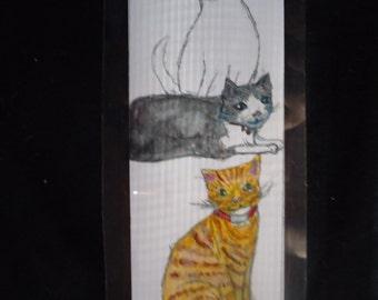 Laminated Cat bookmark