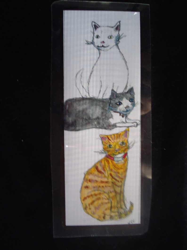 Laminated Cat bookmark image 0