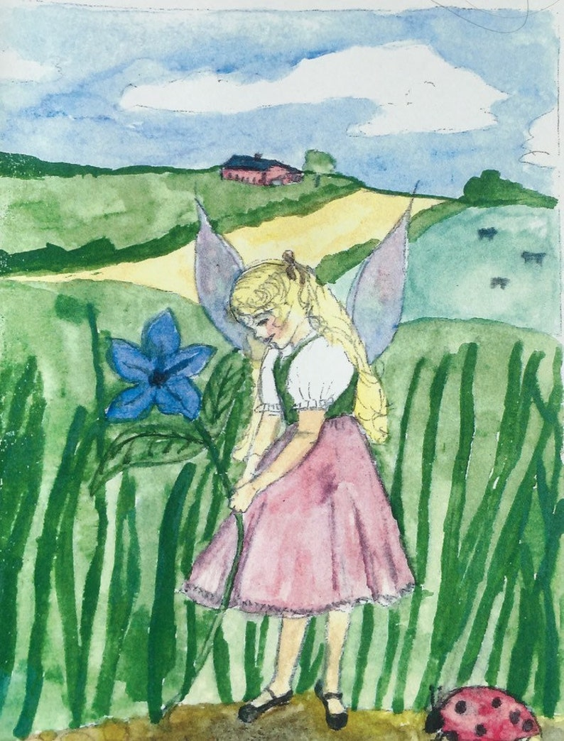 Fairy in the Meadow comes in sets of five note cards and image 0